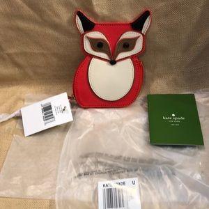 Kate Spade New York leather coin purse fox